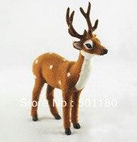 Free Shipping Deer Toy Artificial Deer Gift Decoration Mini Deer Artificial Crafts Animal Deer Figurine Toy
