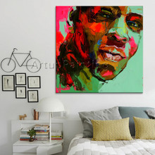 Palette knife portrait Face Oil painting Character figure canvas Hand painted Francoise Nielly wall Art picture for living room8 набор контейнеров для хранения el casa лофт 811716 3 wb 3 предмета