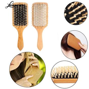 1 Comb Hair Care Brush Massage Wooden Spa Massage Comb 2 Color Antistatic Hair Comb Massage Head Promote Blood Circulation X0585 1