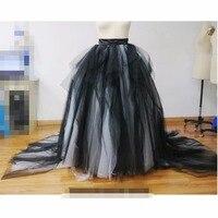 Vintage Long 3D Flower Tulle Skirts For Women Custom Made Female Tulle Skirt Zipper Style High