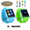 Original U8S Esportes Ao Ar Livre Do Bluetooth 3.0 Relógio Inteligente Com Câmera Remota Pedômetro Reminder Sedentário Smartwatch Para Android