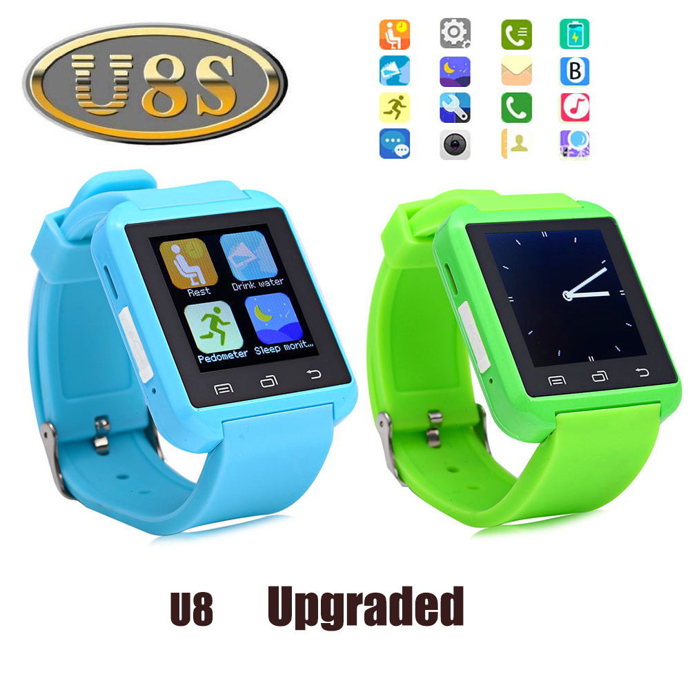 Original U8S Outdoor Sports Smart Bluetooth 3 0 Watch With Remote Camera Pedometer Sedentary Reminder Smartwatch