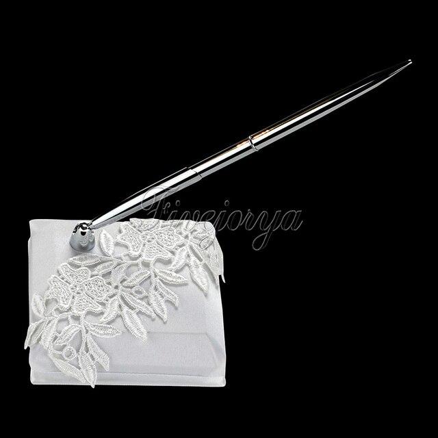 Romantische Weiße Hochzeit Pen Set mit Spitze Blumen Hochzeit ...