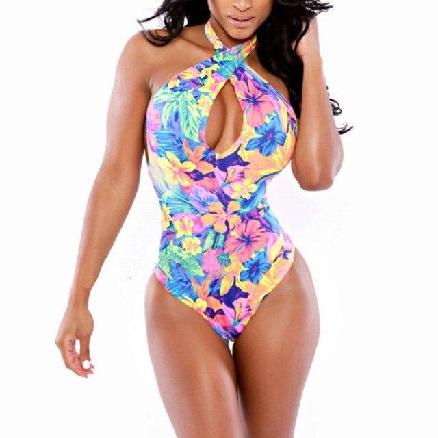 Women High Waist Sexy Bikini Set Bandage Swimsuits Print Crossover Swimwear Bathing Suits New Arrival