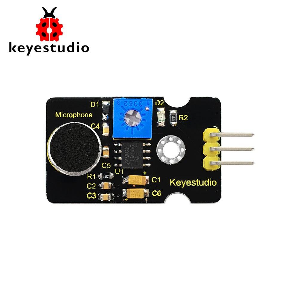 Nova Keyestudio Analógico Ruído Microfone Sensor de Som Módulo De Detecção para Arduino
