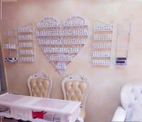 European style heart shaped cosmetics display shelf iron hanging nail polish shelf nail shop nail oil rack rack