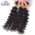 Queens Hair Products Brazilian Deep Curly Virgin Hair 4 Bundles Curly Crochet Hair Deep Wave Brazilian Hair No Shedding