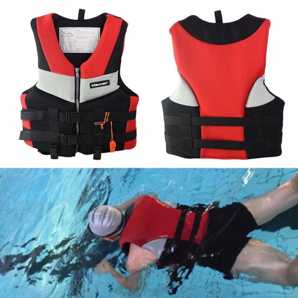 XL-XXL Men Women Life Jacket Universal Water Sport Thickened Foam Safety Life Vest Survival Swimwear For Boat Skiing Fishing