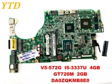 Original for ACER V5-572G laptop motherboard V5-572G I5-3337U 4GB GT720M 2GB DA0ZQKMB8E0 tested good free shipping