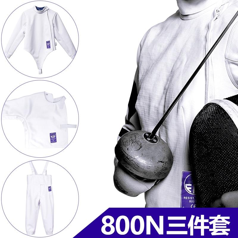 Куртка для фехтования, штаны для фехтования, ограждение underplastron, FIE 800NW, 3 предмета