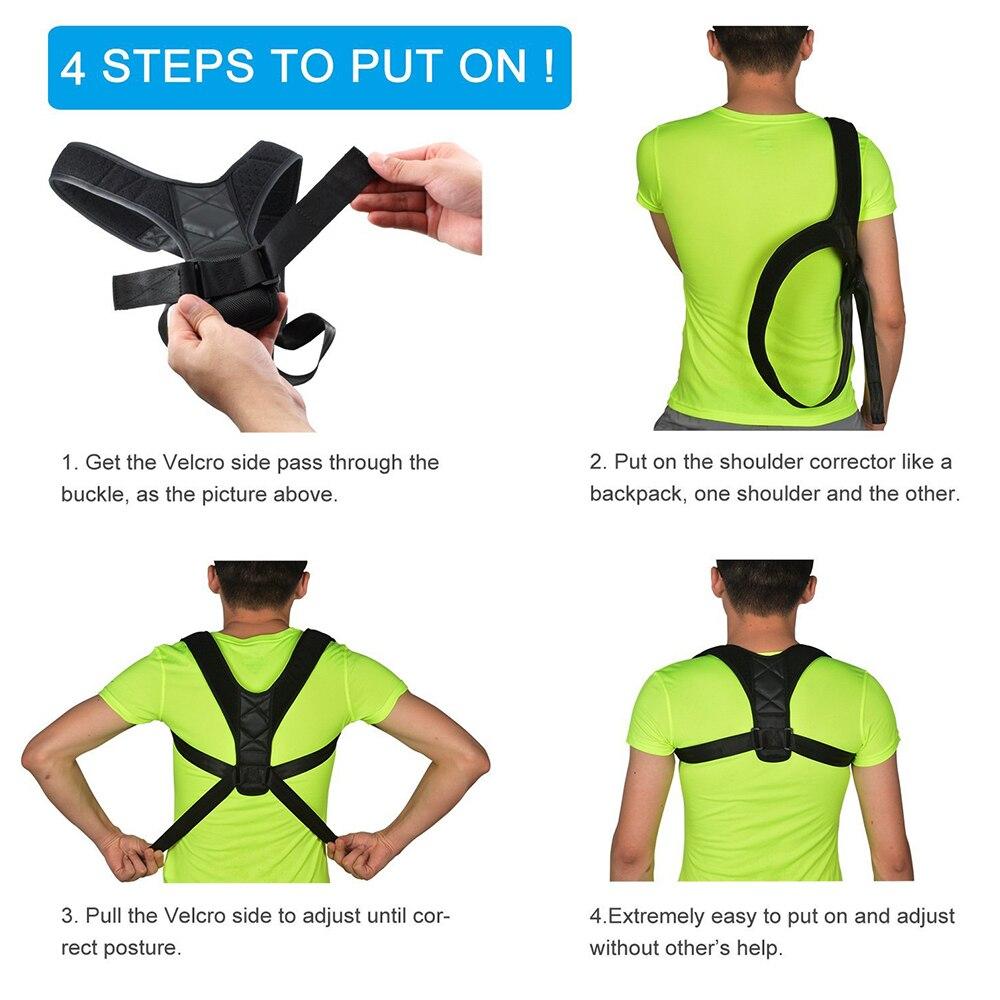 Adjustable Back Posture Corrector Brace Belt - Great Support For Back And Shoulder - For Men & Women 2
