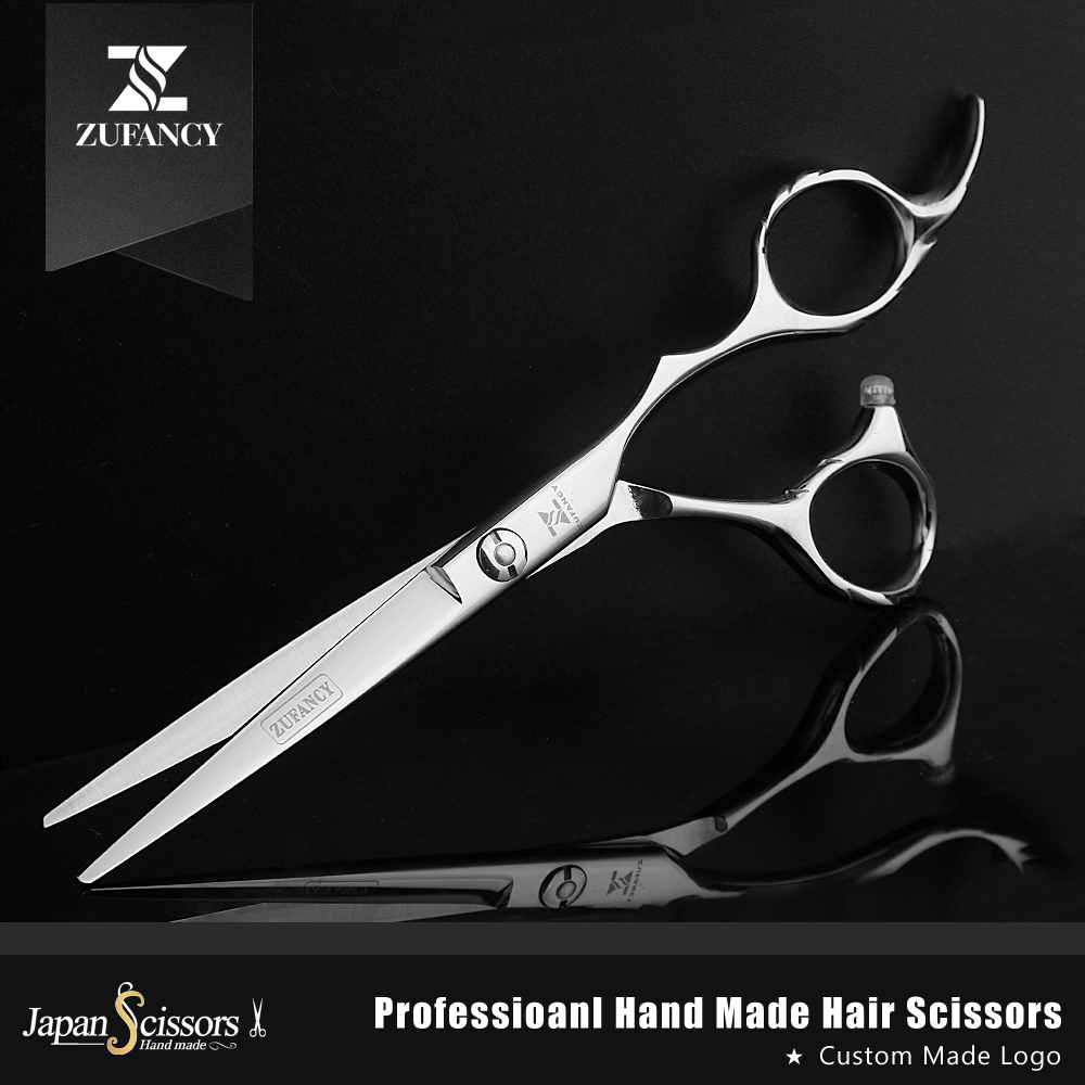 Fast shipped ZUFANCY professional high quality hair scissors 6 inch japan 440C hairdressing cutting&thinning salon barber shears 6 inch japan kasho cutting scissors professional hair shears for hair salon hairdressing barber high quality sus440c