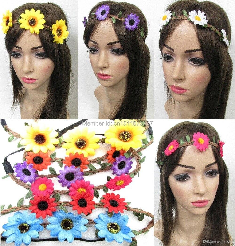 Flower Crown Sunflower Twine Headband Hippie Flower Halo Boho