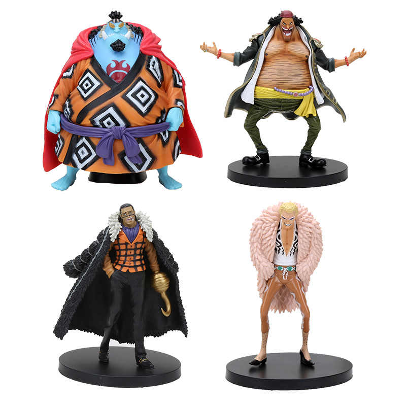 One Piece DX Grandline Homens Donquixote Doflamingo Preto Barba Marshall D Teach Permanente PVC Action Figure Modelo Toy Boneca