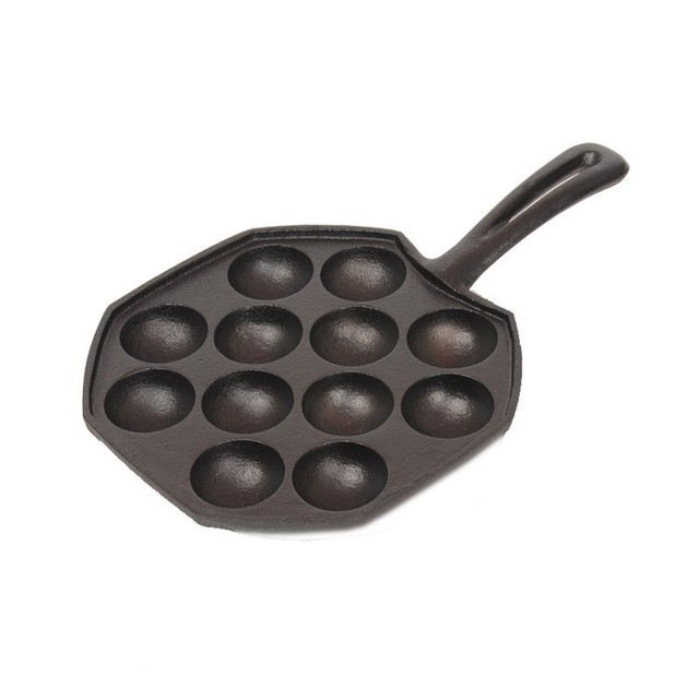 12 Hole/15 Hole Cast Iron Uncoated Nonstick Octopus Ball Takoyaki Maker Meatball Mold Cake Baking Pan Bakeware Tool BBQ Plate