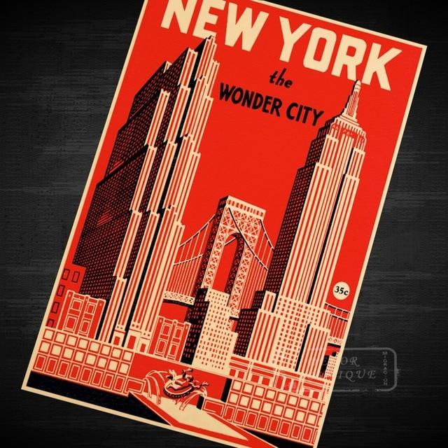 Pop Art Map New York Chase Manhattan Bank Classic Vintage Retro