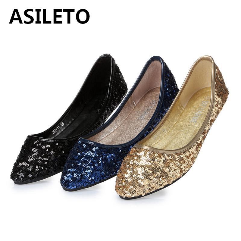 ASILETO Classic Women's Flats Bling