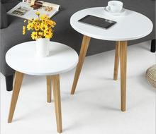 環境にやさしい竹クリエイティブコーヒーテーブルリビングルームラウンド茶テーブルサイドテーブル