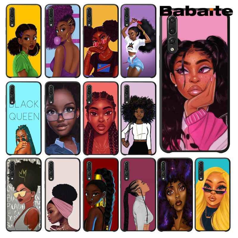 Babaite afryki uroda Afro Puffs czarny dziewczyna telefon etui na Huawei Mate9 10 Mate10 Lite P9 P10 Plus P20 Pro Honor10 View10