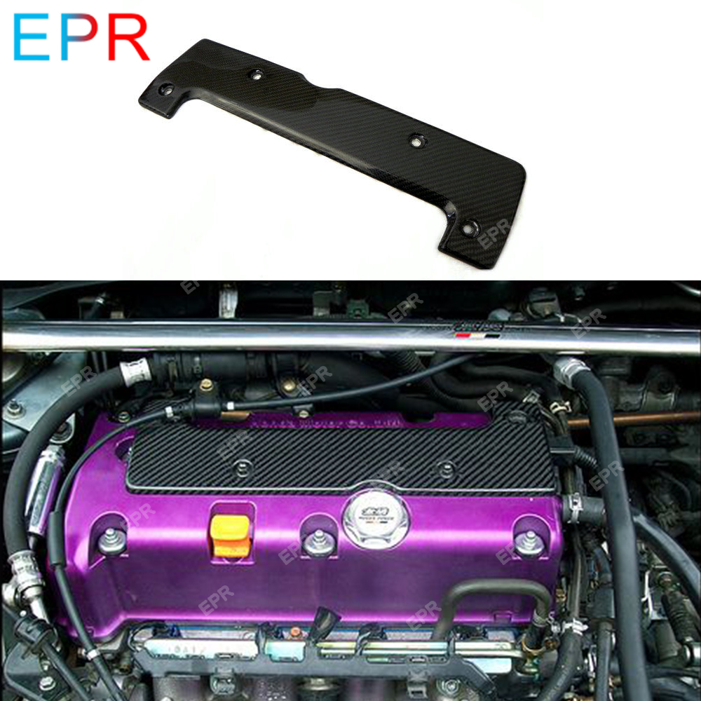 US $85 5 10% OFF|For Honda EP3 DC5 Carbon Fiber Spark Plug Cover Car  Styling Parts Tuning For Integra DC5 Carbon Engine Cover(All K Series  Fit)-in