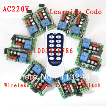 220V 12CH Wireless Remote Control Switch System Toggle Momentary Latched Light/Lamp LED SMD Access Remote Control System ON OF