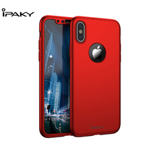 IPAKY 360 Degree Full Protection Case Cover For iPhone X Matte PC Hard Shockproof  Ultra Thin Back Apple
