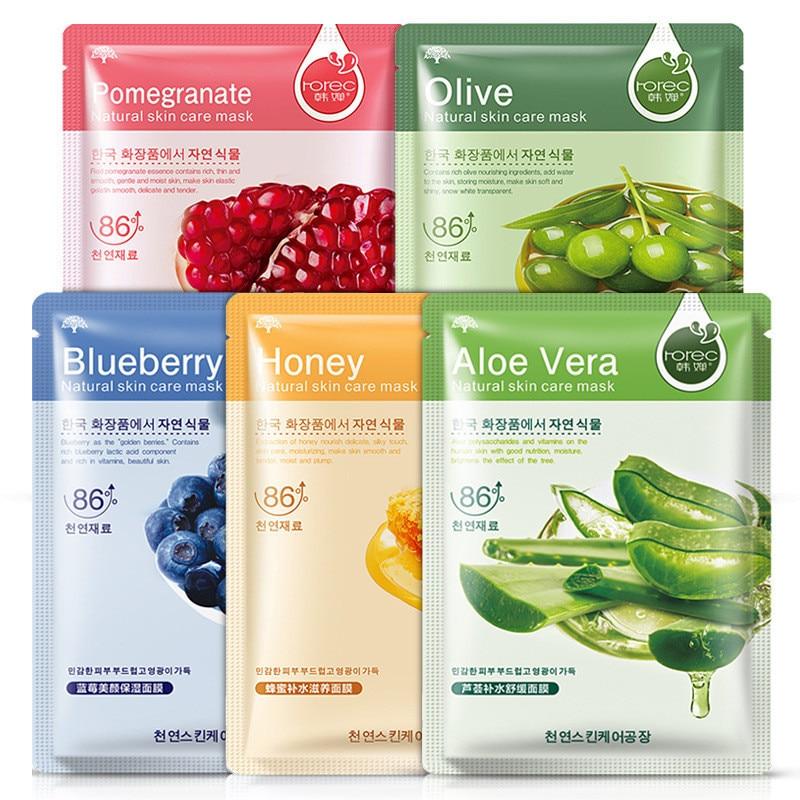Blueberry Aloe Olive Honey Pomegranate Cucumber Plant Face Mask Moisturizer Oil Control Blackhead Remover Mask Facial Skin Care