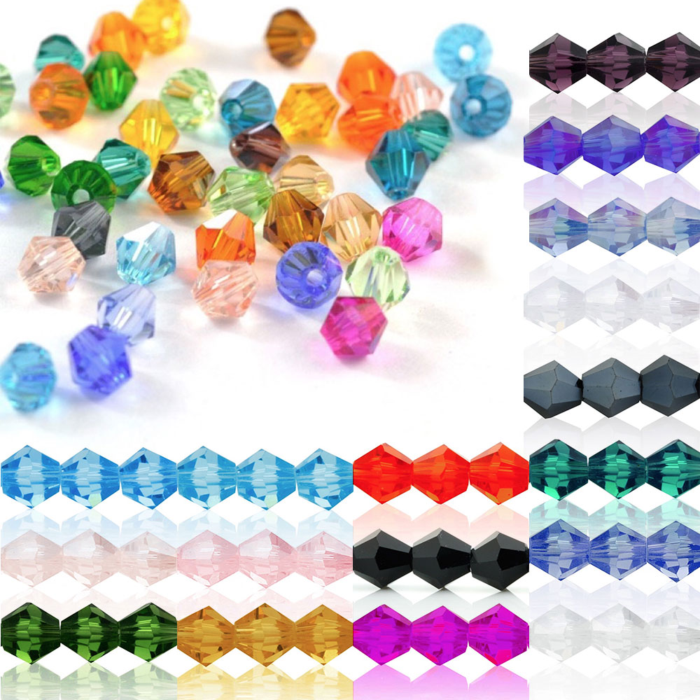 5328 40Pcs 8x8mm Crystal Bicone Glass Loose Spacer Beads DIY Jewellery Making For Bracelet Necklace 18 Color Wholesale CR0376-1