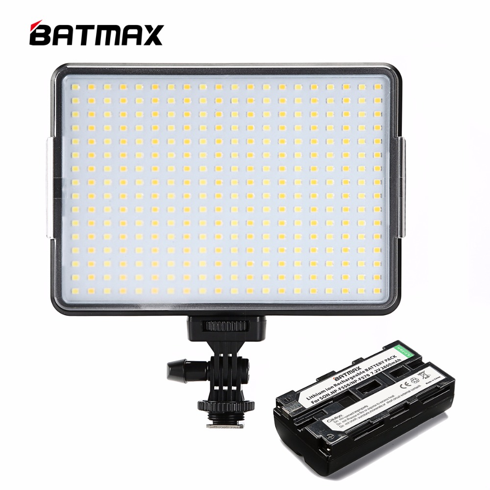 Prestasi Tinggi Ultra Thin 320 LED Kamera Video Light 3200K-5600K + F550 Bateri & Pengecas Kamera DSLR Videolight Wedding Recording