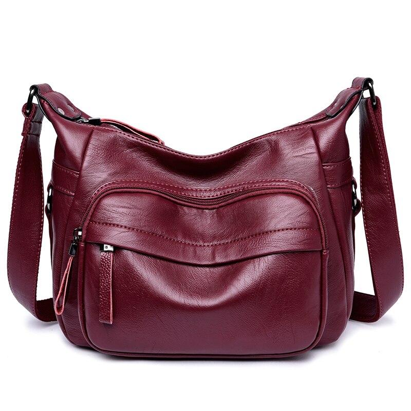 Cloth Shake Crossbody Bags For Girls Soft PU Leather Messenger Bag Women Zipper Soft Shiny Pure Color Bag Single Shoulder Bag waterproof soft cloth storage bags for earphones 5pcs