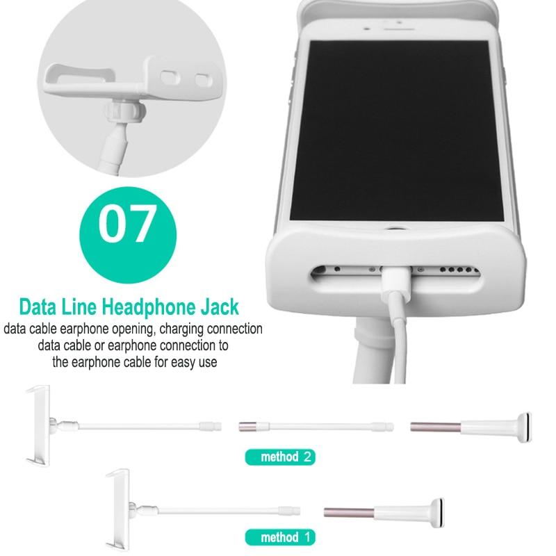 פנסים מופעלי סוללות Tablet מחזיק 85 / 130cm הזרוע הארוכה מיטה / שולחן קליפ אינץ Bracket For3.5 כדי 10.6 אינץ iPad Air מיני Xiaomi Mipad קינדל טלפון Tablet (3)