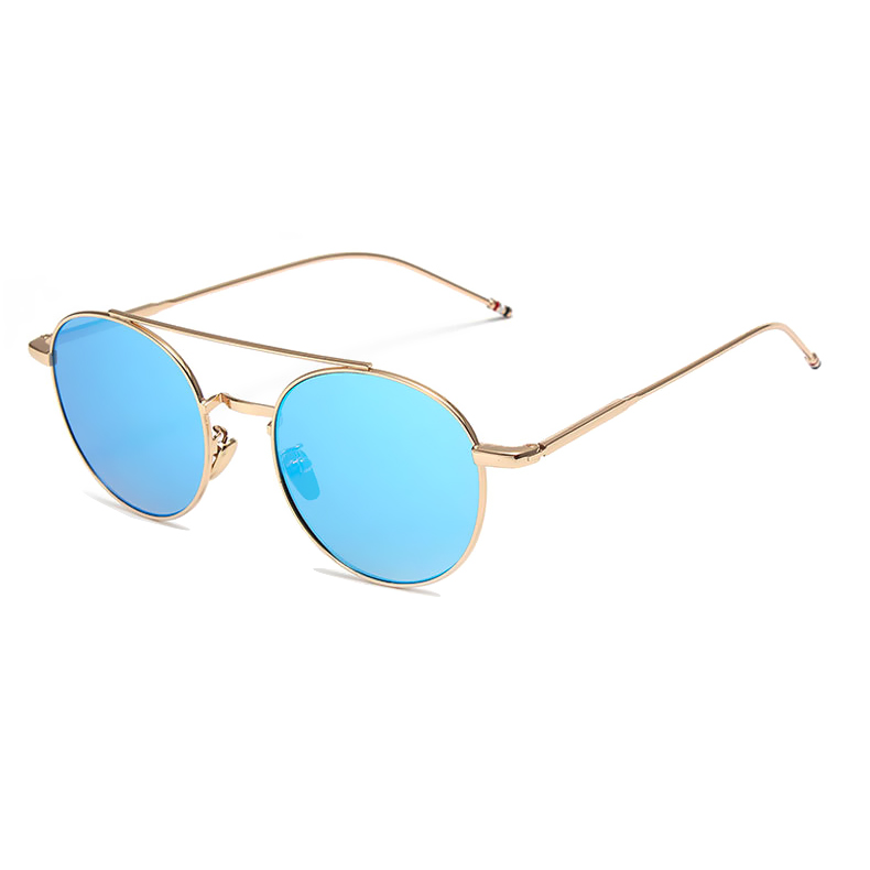 6ee49780fe19 Pink Sunshades Brand Designer 2017 New Round Men Women Fashion Mirror  Sunglasses Lady Italy UV400 Sun Glasses Famous Vintage -in Sunglasses from  Apparel ...