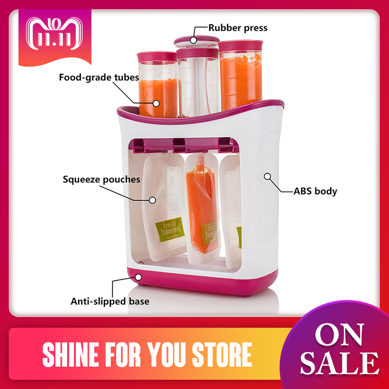 Squeeze Lebensmittel Station Baby Lebensmittel Organisation Lagerung Container Baby Lebensmittel Maker Set Obst Püree Verpackung Maschine