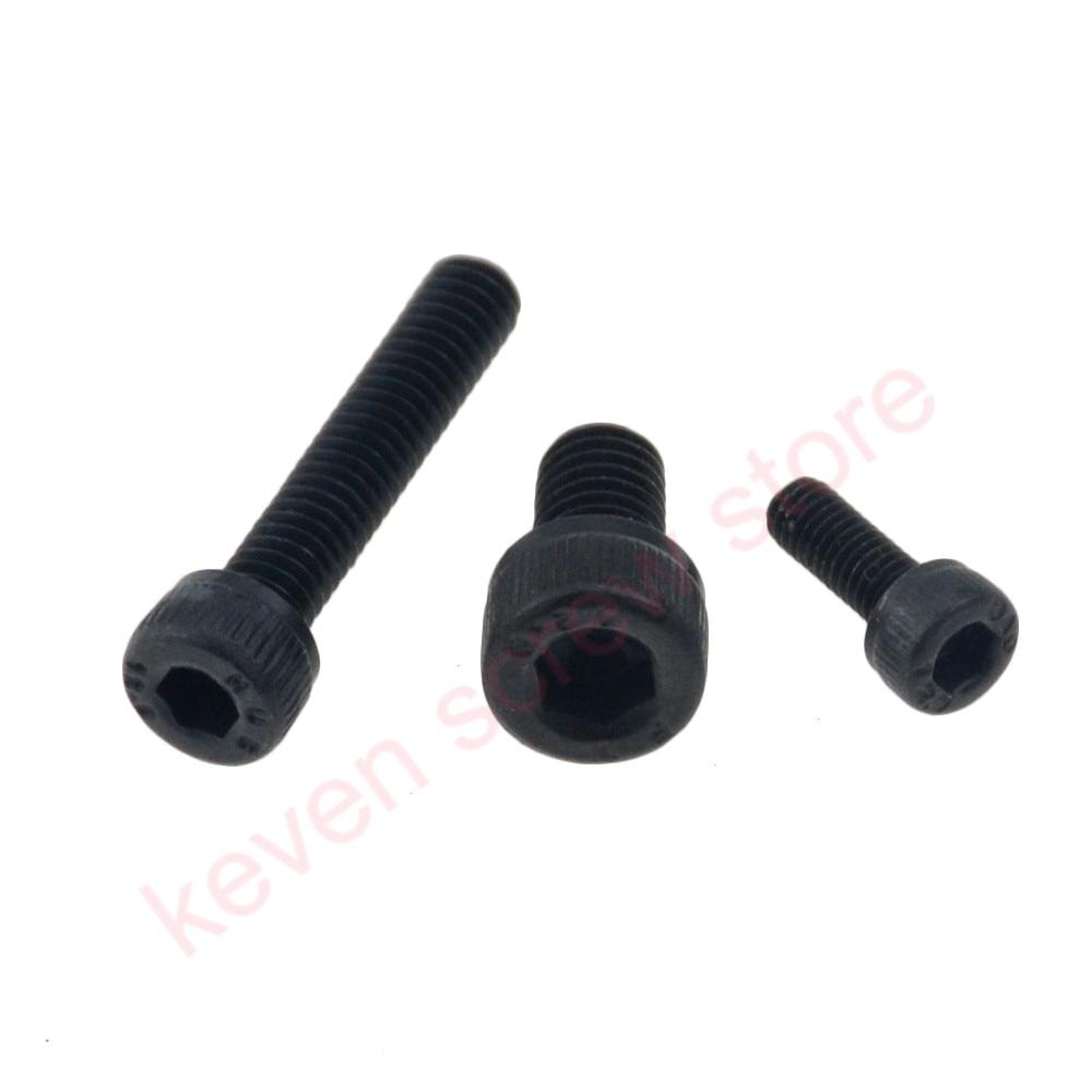 20 stücke M6x10 mm M6 * 10 mm flach kopf senkkopf schwarz grade 8,8 Carbon Stahl Hex Buchse Kopf kappe Schraube