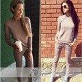 Chándales Real Ninguno O-cuello Con Cordón de Poliéster Completo El Nuevo 2016 Mujeres Traje de Moda Contratado Fleece + Pantalones