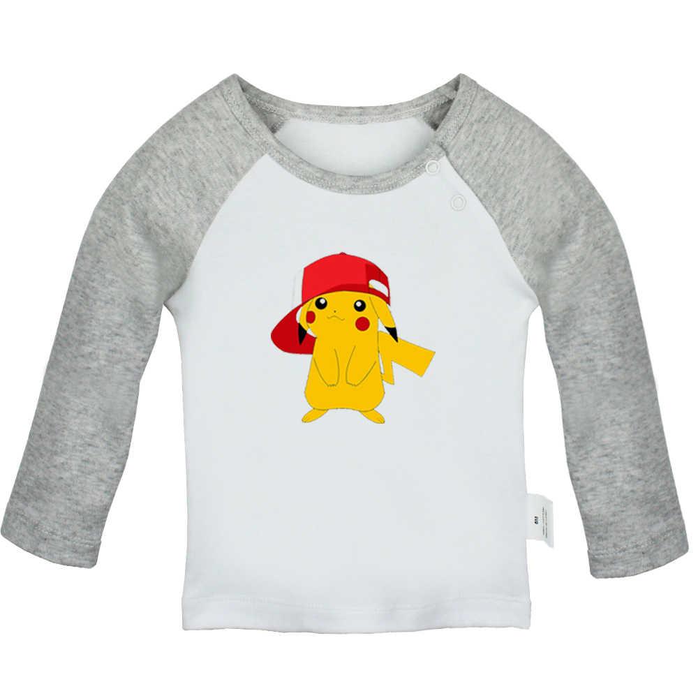 Покемон Пикачу JDM Art Car Angry Chicken розовый Dumbo Свирепый тигр для новорожденных футболки с длинными рукавами для малышей