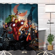 Hot New Eco Friendly Custom Unique The Avengers Modern Shower Curtain  Bathroom Waterproof For Yourself