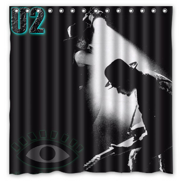 U2 Rock Band Pattern Creative Bath Shower Curtains Bathroom ...