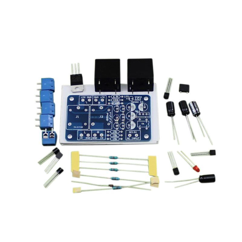 Top Deals 1Pcs Double Relay Power Amplifier Board Speaker Boot Delay DC Protection