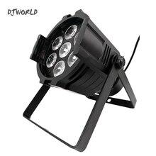 Светодиодный Par 7×12 Вт Алюминий сплав светодиодный Par-прожектор RGBW 4in1 DMX512 мыть dj прожектор для сцены, дискотек вечерние лазерная подсветка для dj костюмы для бальных танцев