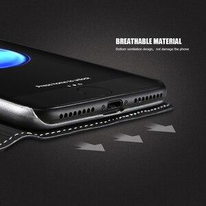 Image 4 - Чехол FLOVEME для iPhone 5 5S SE, чехол для iPhone 8, роскошный брендовый кожаный чехол с откидной крышкой и отделением для карт, чехол для телефона iPhone X, 7, 6, 6S, чехол