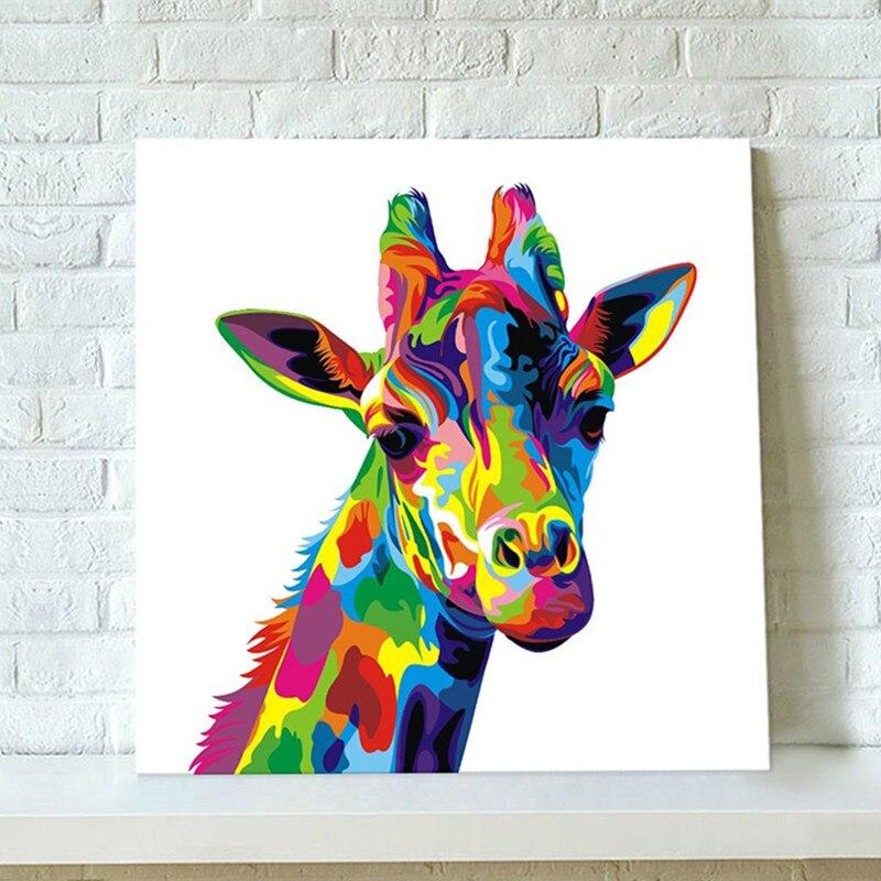 Bunte Abstrakte Giraffe Malerei Hand Bemalte Leinwand ...