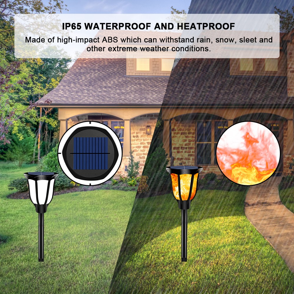 Solar Power Hanging LED Light Outdoor Garden Path Landscape Fence Yard Lamp Bulb