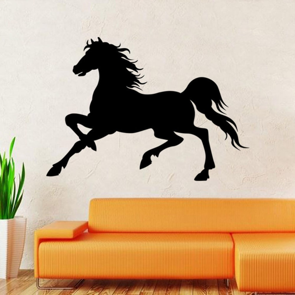New Design Removable Hot Caved Running Horse Remove Wall   Vinyl Wall Decals  Removable How To