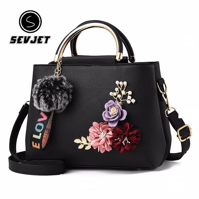 2018 Fashion Flower Printing Women Messenger Bags Ladies Leather Handbag  for Women Shoulder Tote Luxury Designer Bolsas BK03 429a7f3421e5d