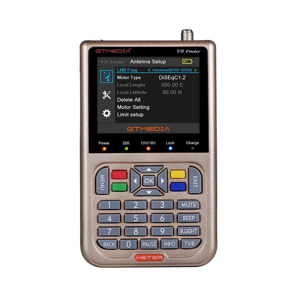 Image 2 - V8 прибор обнаружения метр SatFinder Цифровой спутниковый Finder DVB S/S2/S2X HD 1080 P приемное устройство ТВ приемник сигнала при разнесённом приёме СБ декодер для определения местоположения-in Приемник спутникового ТВ from Бытовая электроника