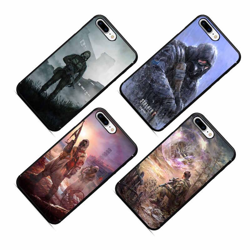 Stalker céu claro Macio TPU Phone Case para iPhone 5 11 Pro 5S 6 6s 7 8 Plus X XR XS MAX