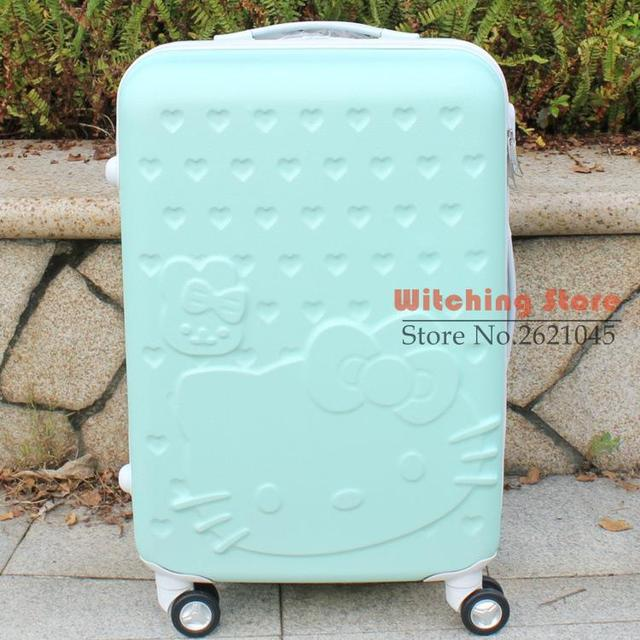 20 INCH 202428# Kitty Hello pull rod universal wheel, Japan and South Korea fan cartoon suitcase student travel box female
