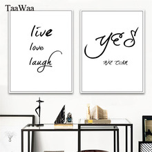 TAAWAA Minimalist Quotes Canvas Wall Art Black and White Posters Prints Painting Scandinavian Style Picture Home Decoration