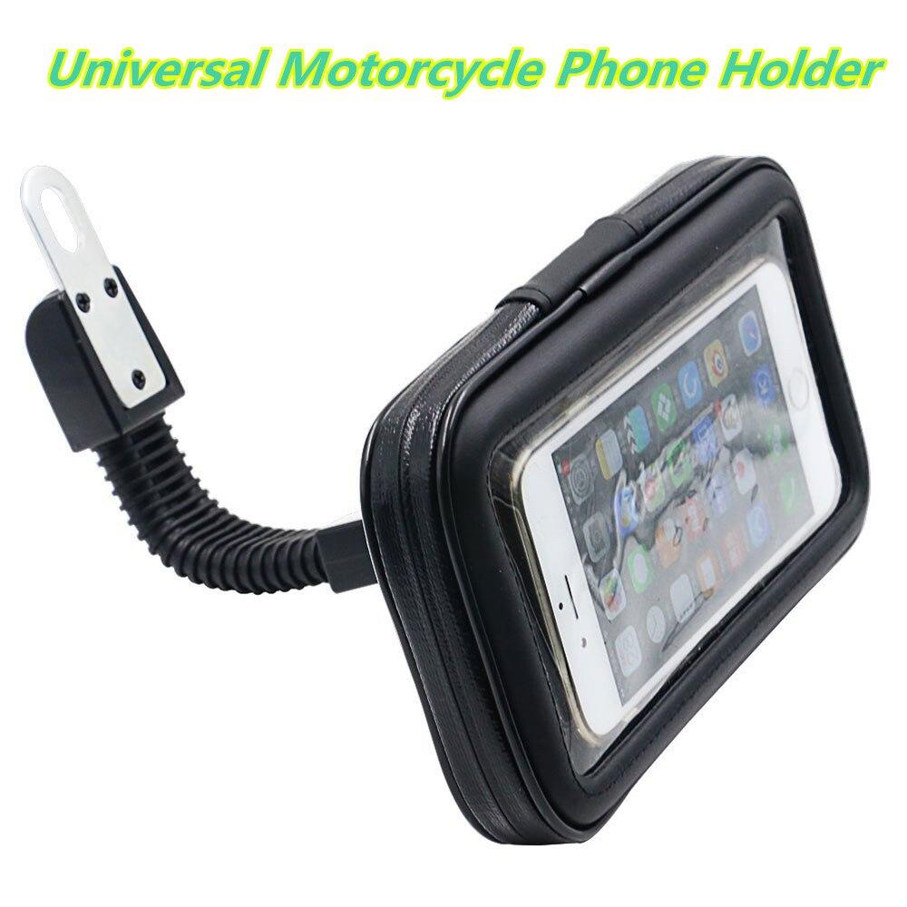 """imágenes para Universal 6.3 """"motorcycle mount holder teléfono móvil soporte del teléfono soporte para teléfono soporte espejo retrovisor impermeable case bag pouch"""